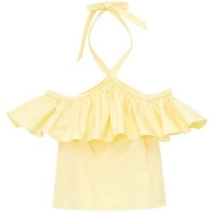 Rebecca Taylor Yellow Halter Neck Ruffle Top 2